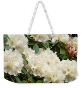 White Rhodies Landscape Floral Art Prints Canvas Baslee Troutman Weekender Tote Bag