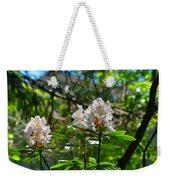 White Rhododendron Blooms Weekender Tote Bag
