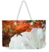 White Rhododendron Flowers Botanical Garden Prints Weekender Tote Bag