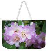 White Rhododendron Flowers With A Purple Fringe Weekender Tote Bag