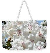 White Rhododendrons Flowers Art Prints Baslee Troutman Weekender Tote Bag