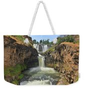 White River Falls B Weekender Tote Bag