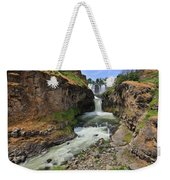 White River Falls C Weekender Tote Bag