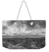 White River Valley Overlook Panorama 2 Bw Weekender Tote Bag