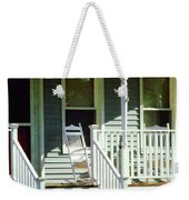 White Rocking Chairs Weekender Tote Bag