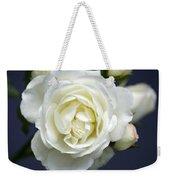 White Rose Bloom Weekender Tote Bag