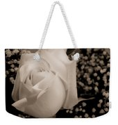 White Rose Bw Fine Art Photography Print Weekender Tote Bag