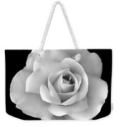 White Rose Flower In Black And White Weekender Tote Bag