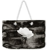 White Rose In Black And White Weekender Tote Bag