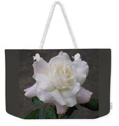 White Rose In Rain - 3 Weekender Tote Bag