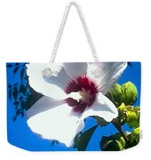 White Rose Of Sharon Hanging Out In The Sky Weekender Tote Bag