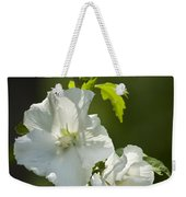 White Rose Of Sharon Squared Weekender Tote Bag