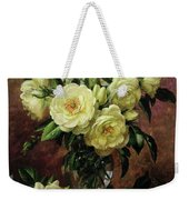 White Roses - A Gift From The Heart Weekender Tote Bag by Albert Williams