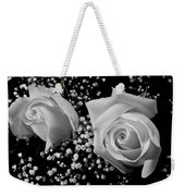 White Roses Bw Fine Art Photography Print Weekender Tote Bag