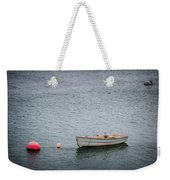 White Rowboat And Seagull Weekender Tote Bag
