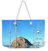 White Sail Boat Morro Rock  Weekender Tote Bag