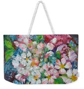 White Sakura - Floral Cherry Tree Blossom Oil Color Painting Weekender Tote Bag