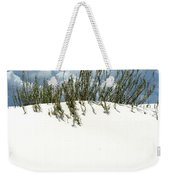 White Sand Green Grass Blue Sky Weekender Tote Bag