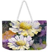 White Scabious Weekender Tote Bag