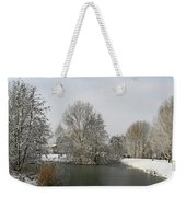 White Vision Around Canals Weekender Tote Bag