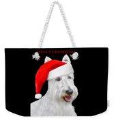 White Scottish Terrier Dog Christmas Card Weekender Tote Bag