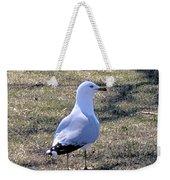 White Seagull Weekender Tote Bag