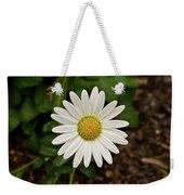 White Shasta Daisy In The Rain Weekender Tote Bag