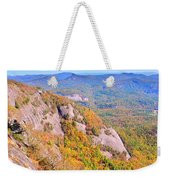 White Side Mountain Fool's Rock In Autumn Weekender Tote Bag