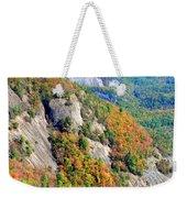 White Side Mountain Fool's Rock In Autumn Vertical Weekender Tote Bag