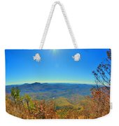 White Side Mountain Nantahala National Forest In Autumn Weekender Tote Bag