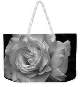 White Simplicity Rose Macro Weekender Tote Bag