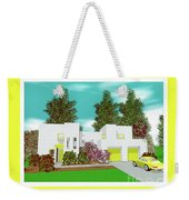 White Solar Cube Number One Weekender Tote Bag