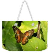 White Spotted Butterfly Weekender Tote Bag