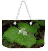 White Spring Trillium Weekender Tote Bag