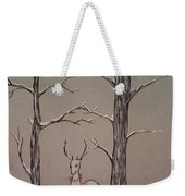 White Stag Weekender Tote Bag by Ginny Youngblood
