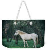 White Stallion In The Woods  Weekender Tote Bag