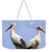 White Storks Weekender Tote Bag by Wim Lanclus