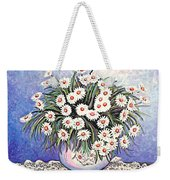 White Straw Flowers Two Weekender Tote Bag