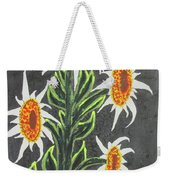 White Sunflowers Weekender Tote Bag