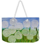 White Sunflowers, Painting Weekender Tote Bag