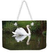 White Swan In Belgium Park Weekender Tote Bag