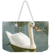 White Swan With Reflection Weekender Tote Bag