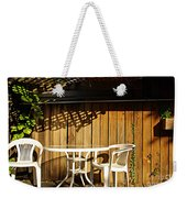White Table With Chairs Weekender Tote Bag