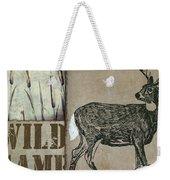 White Tail Deer Wild Game Rustic Cabin Weekender Tote Bag