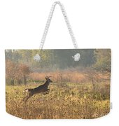 White Tail Morning Weekender Tote Bag