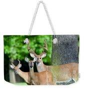 White-tailed Deer Family Weekender Tote Bag