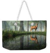 White Tailed Deer Reflected Weekender Tote Bag
