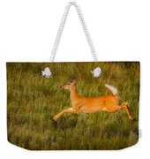 White-tailed Doe Leaping Weekender Tote Bag