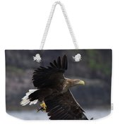 White-tailed Eagle Against Cliffs Weekender Tote Bag