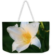 White Temptation Lily Weekender Tote Bag